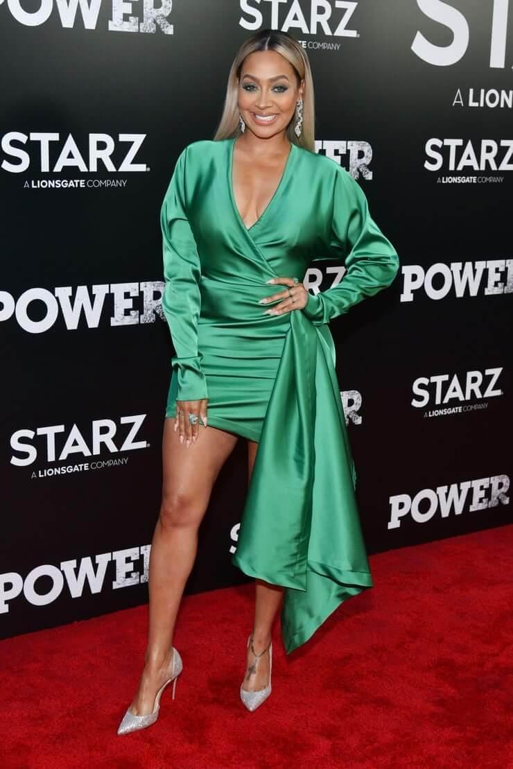 La-La-Anthony-sexy-green-dress