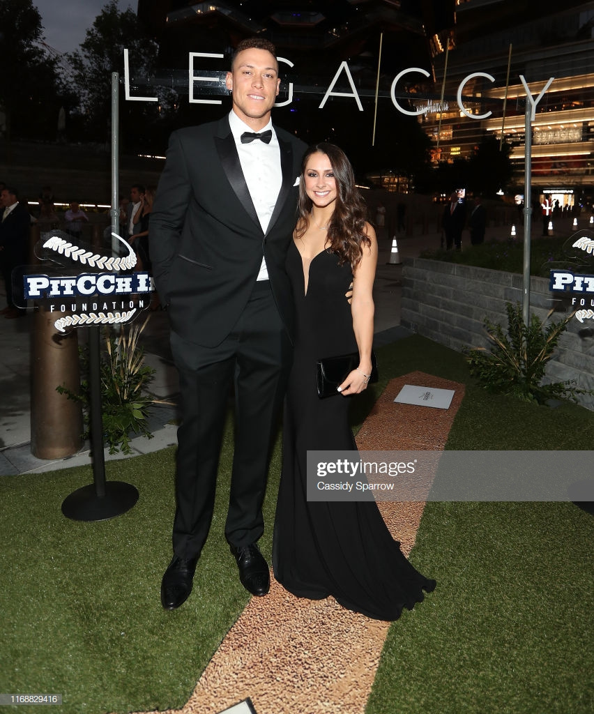 NEW YORK, NY - SEPTEMBER 16:  (L-R) Aaron Judge and Samantha Bracksieck attend The LegaCCy Gala at The Shed on September 16, 2019 in New York City.  (Photo by Cassidy Sparrow/Getty Images)